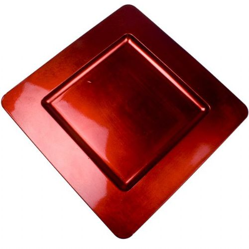RED Square Charger Plate / Underplate